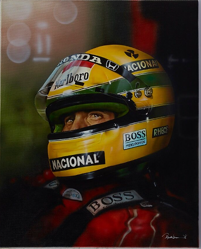 Ayrton Senna Limited Edition Print by Paul Karslake