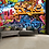 Thumbnail: Brightly Coloured Street Graffiti Feature 4 Piece Wall Mural