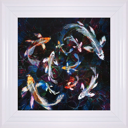 Koi 1 Liquid Framed Artwork