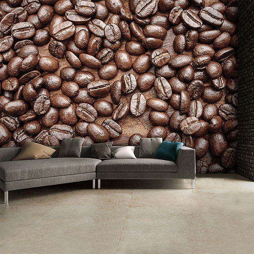 Coffee Bean Feature 4 Piece Wall Mural
