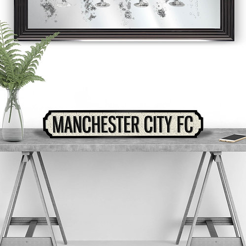 Manchester City FC Vintage Street Sign