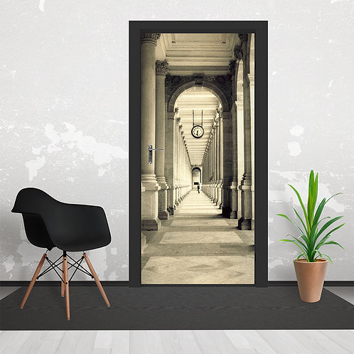 Rome Colonnade Feature Door Wallpaper Mural