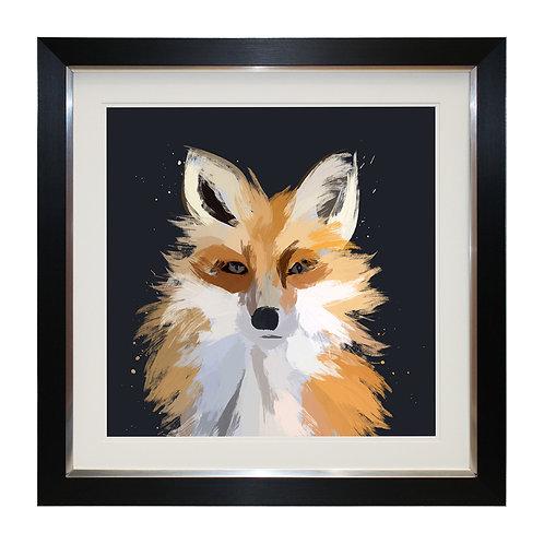 Scruffy Fox Framed Wall Art