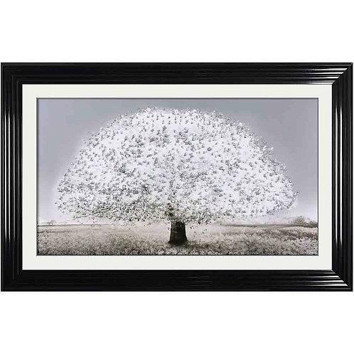 Blossom Tree Liquid Framed Wall Art