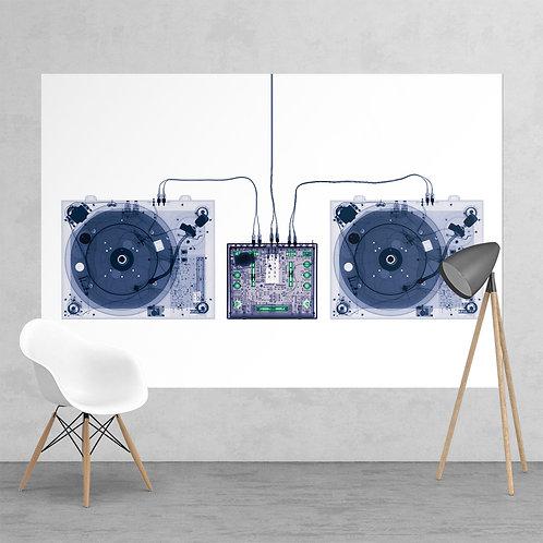 Xray-Decks DJ Music Decks Feature 2 Piece Wall Mural
