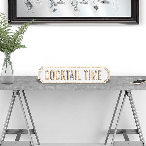 Cocktail Time Vintage Street Sign