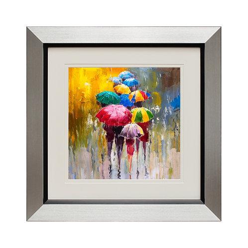 Les Parapluies I Framed Wall Art