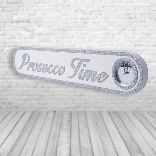 Prosecco Time Vintage Clock Street Sign