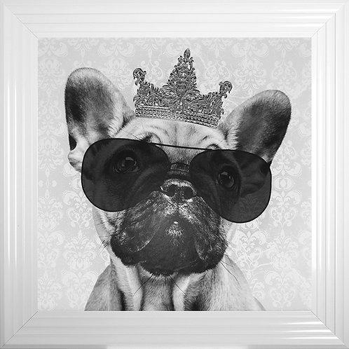 French Bulldog Liquid Resin Framed Artwork - 75x75cm