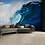 Thumbnail: Blue Surf Wave Feature 4 Piece Wall Mural