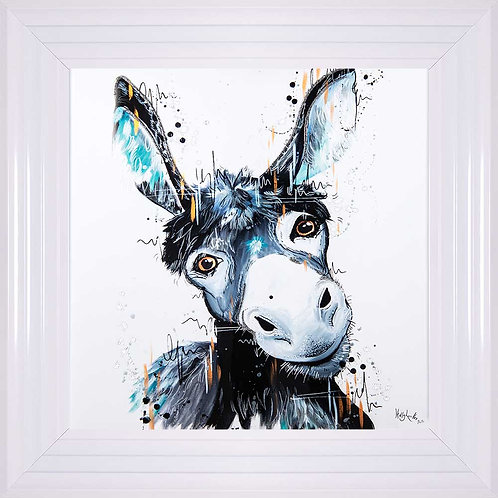 Donkey Liquid Framed Wall Art
