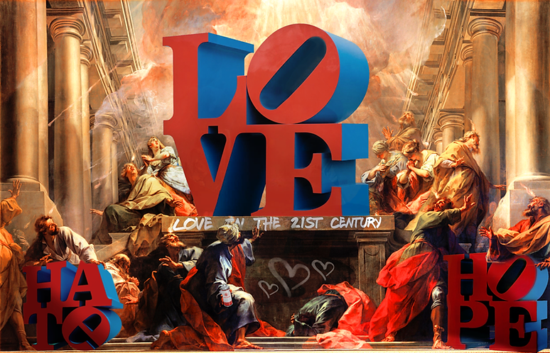 Dirty Hans LOVE IN THE 21ST CENTURY LIMITED EDITION PRINT