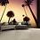 Thumbnail: California Palm Trees Feature 4 Piece Wall Mural