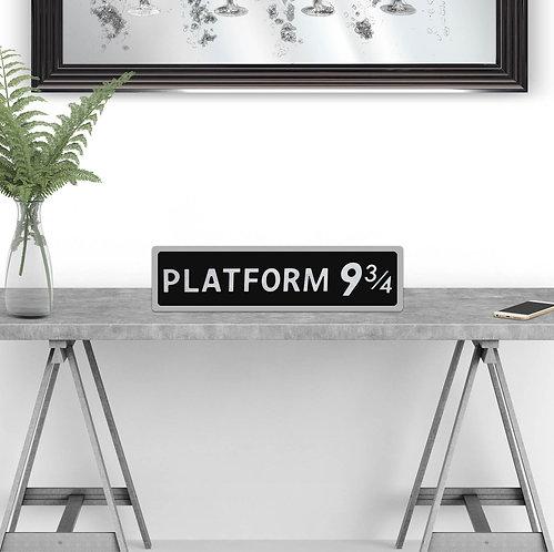 Platform 9 3/4 Vintage Street Sign