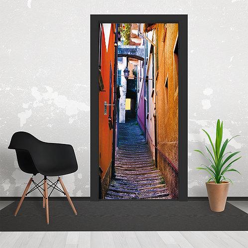 Italian Rustic Street Alleyway Door Wallpaper Mural