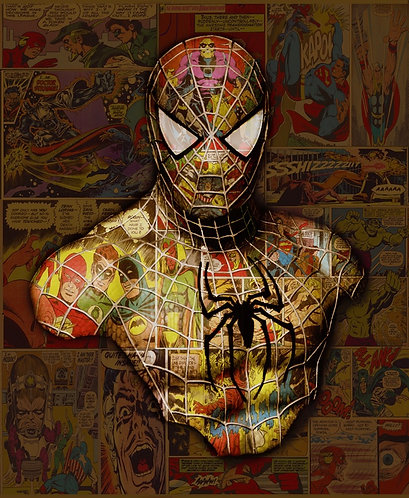 Dirty Hans SPIDERMAN (small) Limited Edition Print