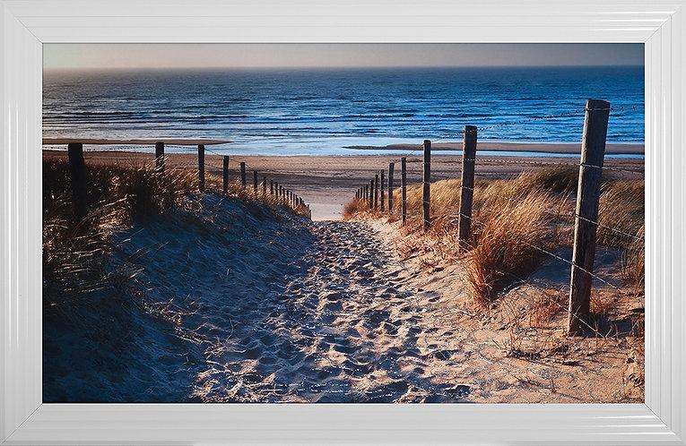 Path to Beach Liquid Framed Wall Art