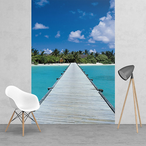Paradise Maldives Dream Jetty Feature 2 Piece Wall Mural