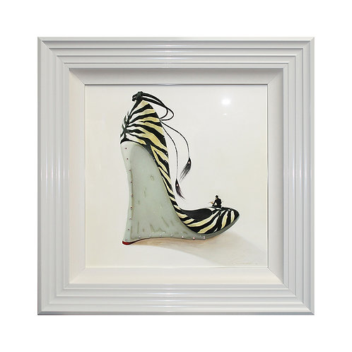 High Heels Coolness Liquid Framed Wall Art