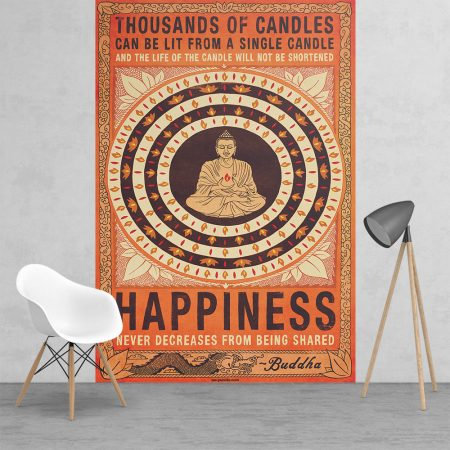 Thousand of Candles Happiness Buddha Feature 2 Piece Wall Mural