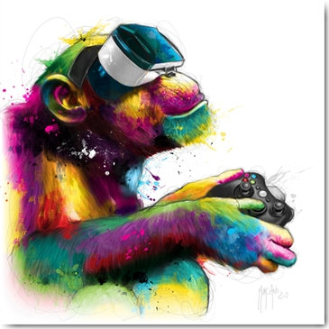 Patrice Murciano HOMO GAMER Framed Wall Art