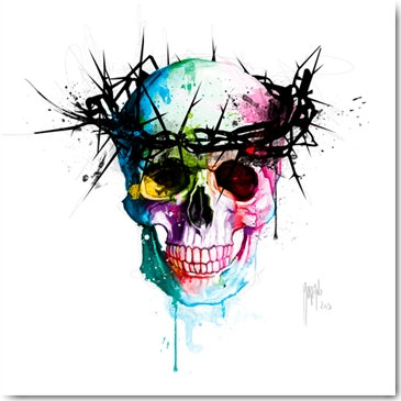 Patrice Murciano JESUS SKULL Framed Wall Art