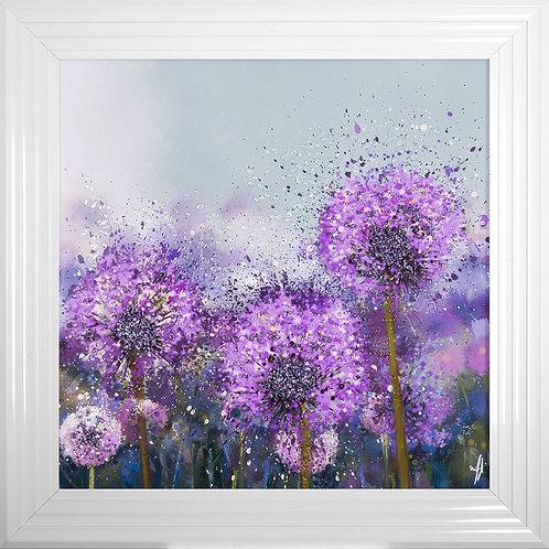 Allium Framed Liquid Resin Artwork - 75x75cm