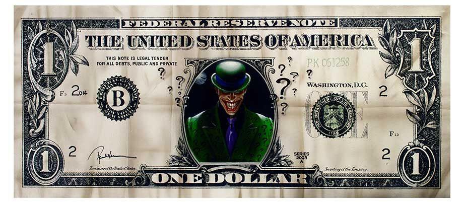 Riddler Dollar Limited Edition Print by Paul Karslake