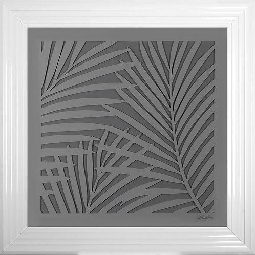 Leaves 3D Framed Artwork - 75x75cm