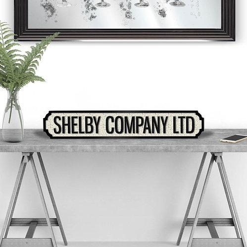 Shelby Company Vintage Street Sign