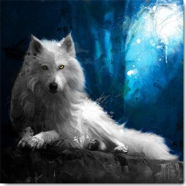 Patrice Murciano Cheyenne La Loup Blanc Framed Wall Art