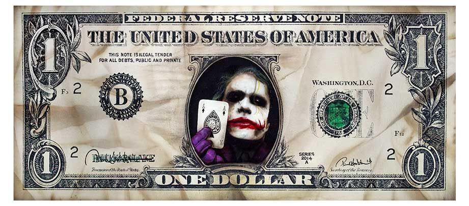 Joker Dollar Limited Edition Print by Paul Karslake