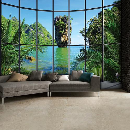 Tropical Thailand Feature 4 Piece Wall Mural