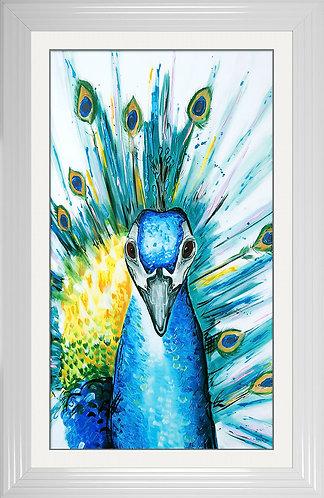 Peacock Liquid Resin Framed Wall Art