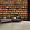 Thumbnail: Colourful Library Bookshelf Feature 4 Piece Wall Mural