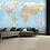 Thumbnail: Blue World Map Feature 4 Piece Wall Mural