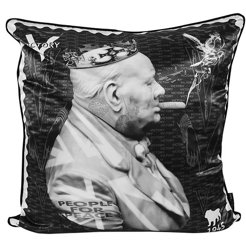Dirty Hans Winston Churchill Feather Filled Cushion