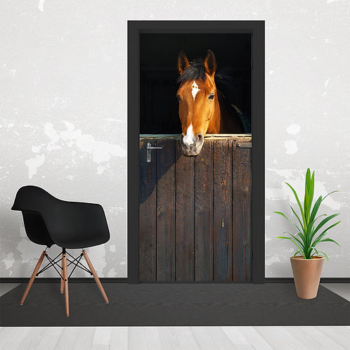 Stable Horse Door Wallpaper Mural