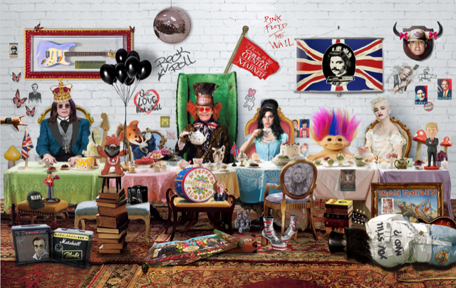 Dirty Hans ROCK & ROLL TEA PARTY Limited Edition Print