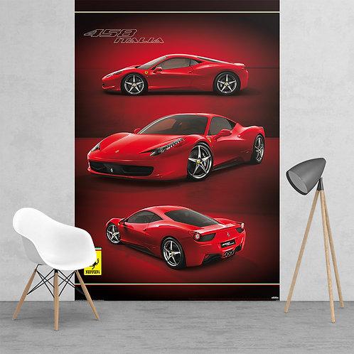 Ferrari Racing Car Feature 2 Piece Wall Mural