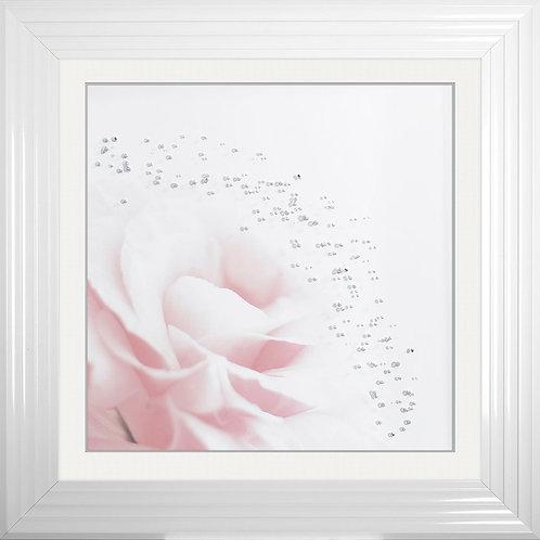Pink Flower 2 Framed Liquid Resin Artwork - 75x75cm