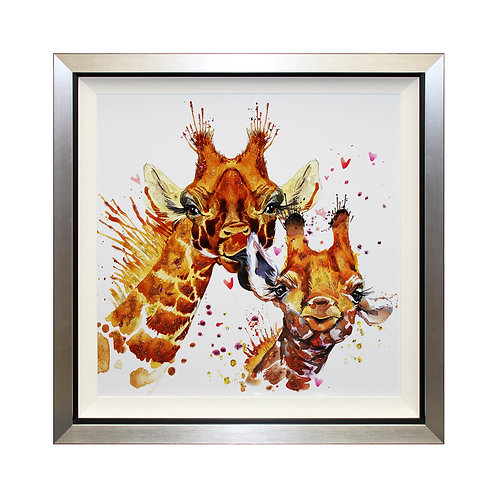 Family Portrait Liquid Art Framed Wall Art