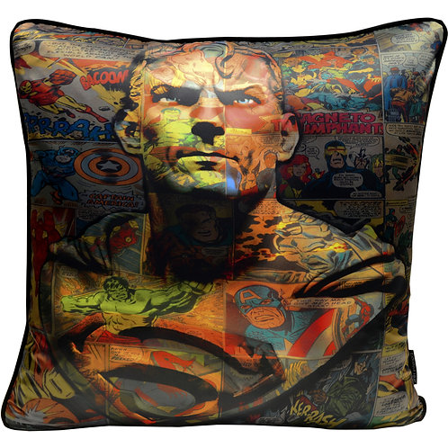 Dirty Hans Superman Feather Filled Cushion