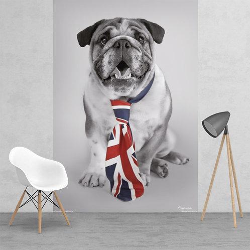 British Bulldog Union Jack Tie Feature 2 Piece Wall Mural