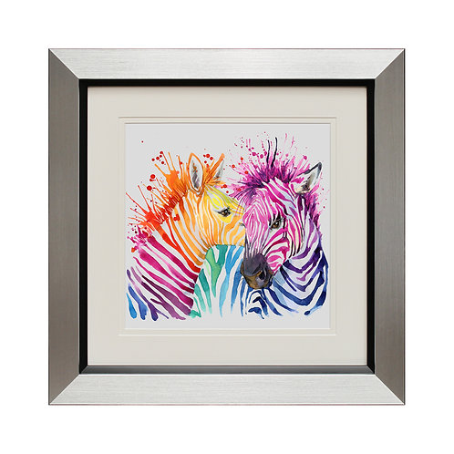 Party Zebras Framed Wall Art