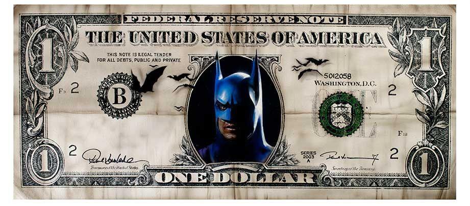 Batman Dollar Limited Edition Print by Paul Karslake