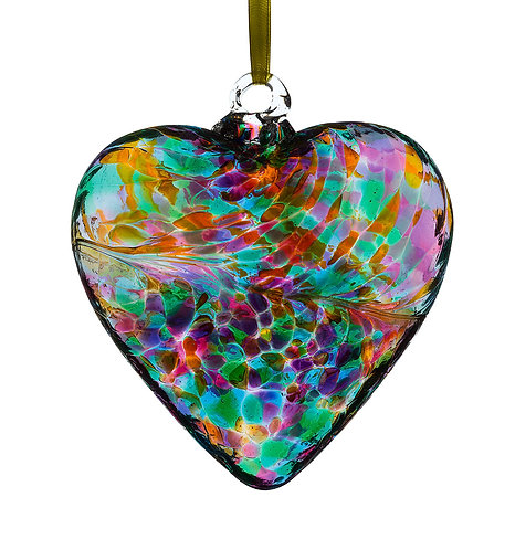 Friendship Hearts 8cm -Multi Turquoise