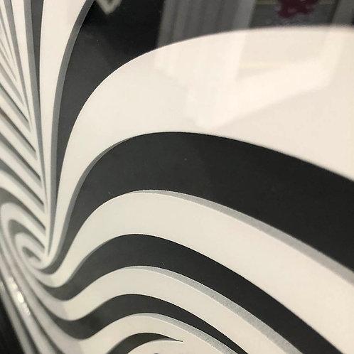 Illusion Swirl 3D Framed Artwork - 75x75cm