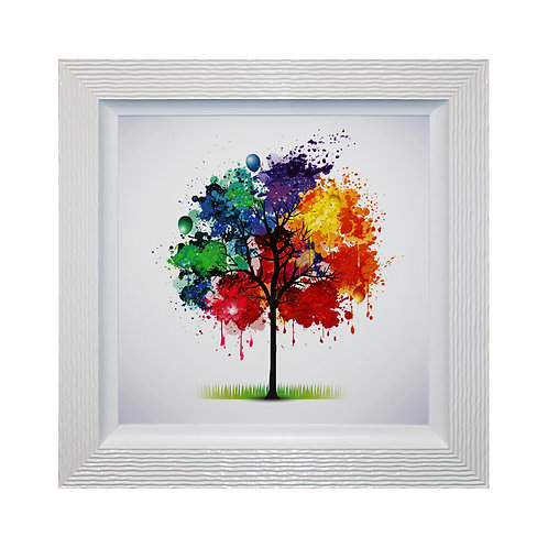 Celebration Tree I Liquid Framed Wall Art
