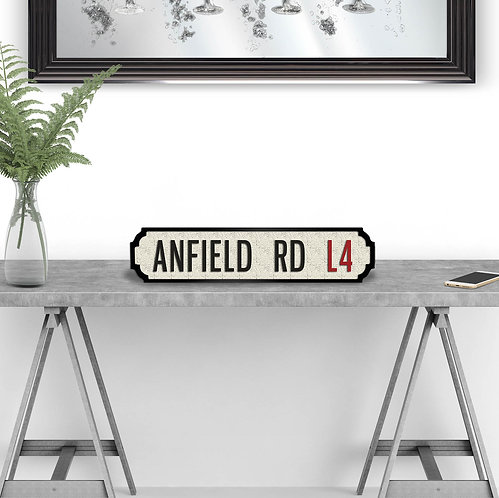 Anfield Rd Vintage Street Sign